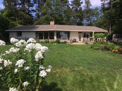 Alger County Single Family Home For Sale: E5640 Au Train River View