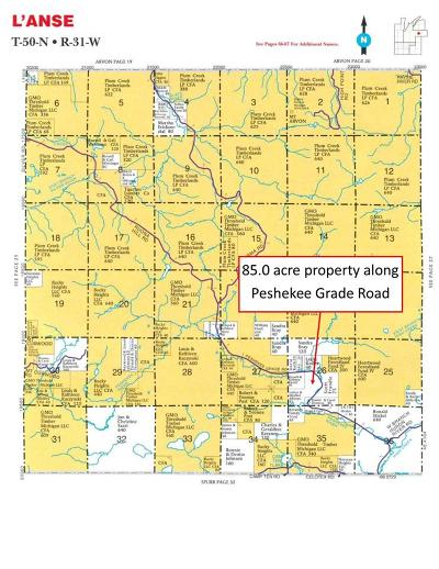 Michigamme Residential Lots & Land For Sale: Peshekee Grade Rd