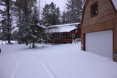 Munising Single Family Home For Sale: N2903 Toms Rd