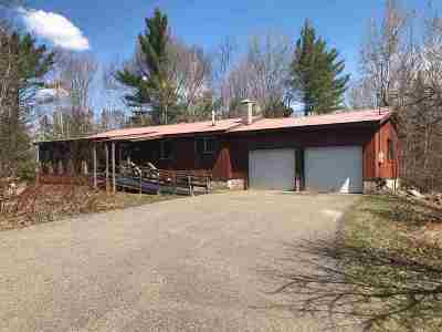 Michigamme Single Family Home For Sale: 23485 Main