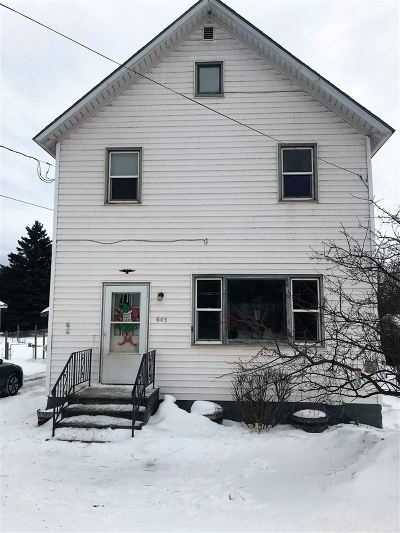 Ishpeming Single Family Home Pending w/Contingency: 643 S Pine