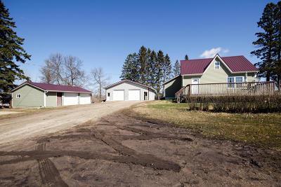 Bemidji, Shevlin, Solway, Bagley, Clearbrook, Leonard Single Family Home For Sale: 24590 Railroad Road