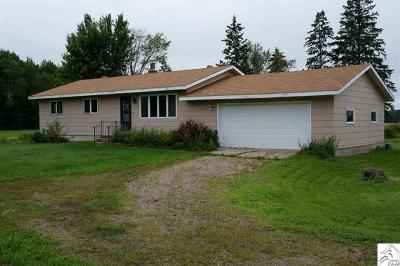 Floodwood MN Single Family Home For Sale: $184,900