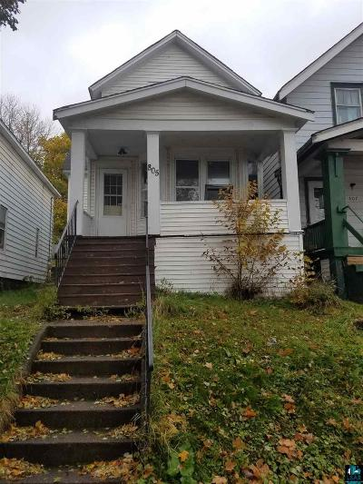 Duluth Single Family Home For Sale: 805 E 6th St