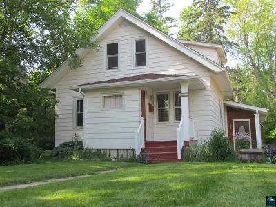 Duluth MN Single Family Home For Sale: $167,500