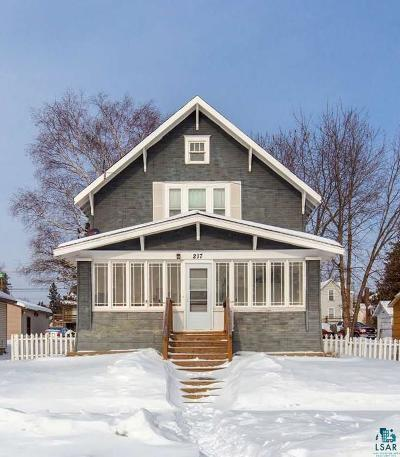Two Harbors Single Family Home For Sale: 217 2nd Ave