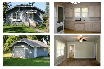 Parkers Prairie MN Single Family Home Sold: $60,500