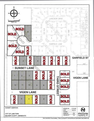 Lake Park Residential Lots & Land For Sale: Lot 4 Vigen Lane