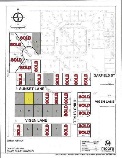 Lake Park Residential Lots & Land For Sale: Lot 2 Sunset Lane