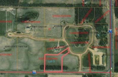 Perham Residential Lots & Land For Sale: Lot G Easy Lane