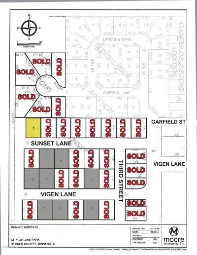 Lake Park Residential Lots & Land For Sale: Lt 1 Blk 1 Sunset Lane
