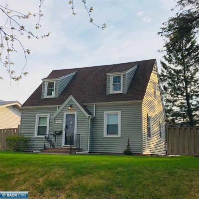 Hibbing, Chisholm Single Family Home For Sale: 3609 W 3rd Av