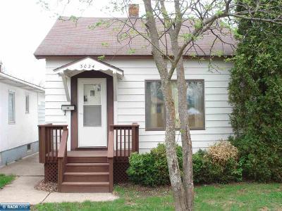 Hibbing, Chisholm Single Family Home For Sale: 3024 E 6th Avenue