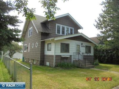 Hibbing, Chisholm Single Family Home For Sale: 3006 5th Avenue E