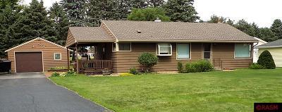 New Ulm Single Family Home Contngnt-Home Inspection: 1906 N Garden Street