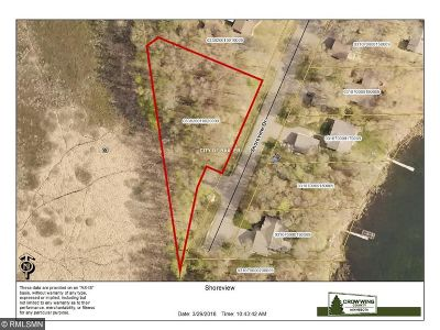 Baxter Residential Lots & Land For Sale: Xxx Shoreview Drive