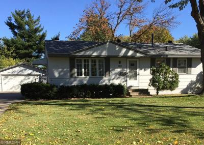 Fridley Single Family Home For Sale: 5831 5th Street NE