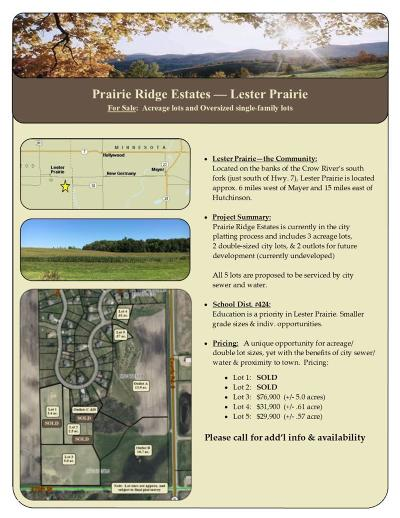 Residential Lots & Land For Sale: Tbd3 Prairie Ridge Lane