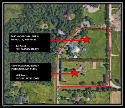 Plymouth Residential Lots & Land For Sale: 5600 Vagabond Lane N