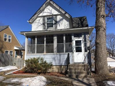 Minneapolis Single Family Home Contingent: 1520 22nd Avenue N