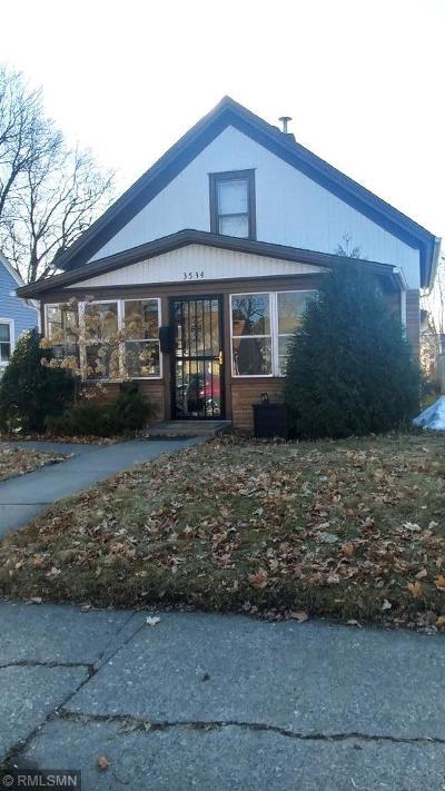 Minneapolis Single Family Home For Sale: 3534 3rd Street NE