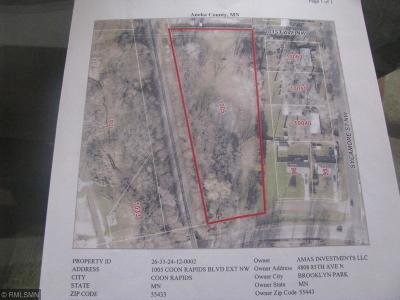 Coon Rapids Residential Lots & Land For Sale: 1005 Coon Rapids Boulevard Extension NW