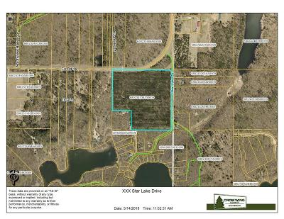 Pequot Lakes Residential Lots & Land For Sale: Xxx Star Lake Drive