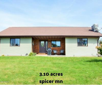 Spicer Single Family Home For Sale: 12790 52 Street NE