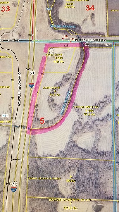 Bates County Residential Lots & Land For Sale: I 49 Interstate 49/Hwy 52