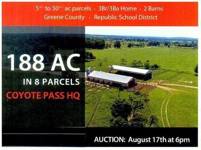 Republic Farm For Sale: 10811 West Farm Road 188