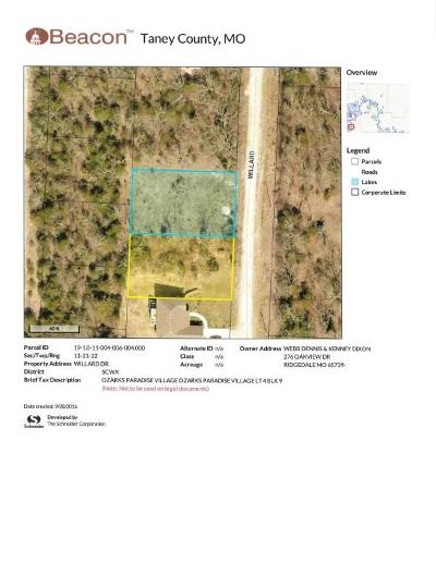 Ridgedale Residential Lots & Land For Sale: Lt 4 Blk 9 Willard Dr