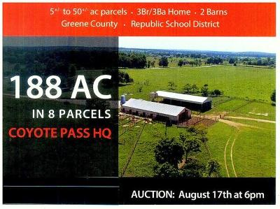 Republic Farm For Sale: Tbd West State Highway 174