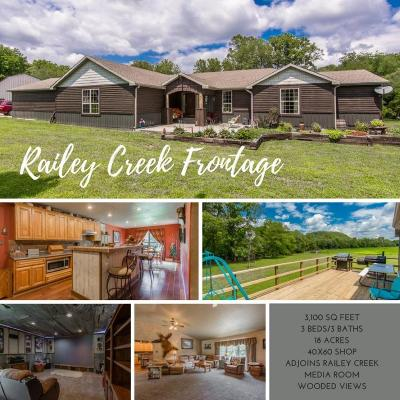 Single Family Home For Sale: 3892 Railey Creek Road