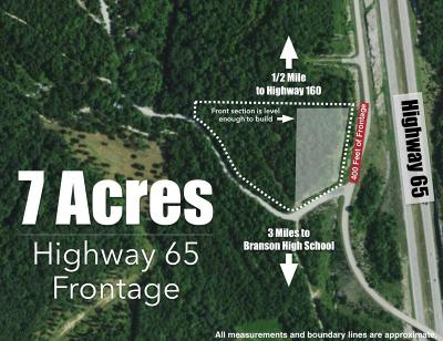 Branson  Residential Lots & Land For Sale: Tbd Hwy 65 Frontage