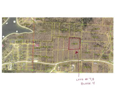Branson West Residential Lots & Land For Sale: Lot 7, 8 Block 4 Blue Water Village