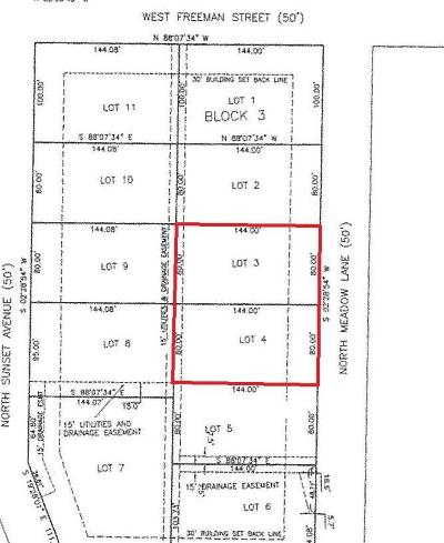 Bolivar Residential Lots & Land For Sale: Lots 3 & 4 Block 3 Russell Subdivision