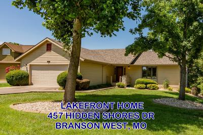 Branson West Single Family Home For Sale: 457 Hidden Shores Drive