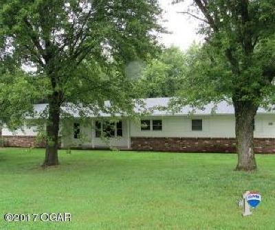 Joplin MO Single Family Home For Sale: $109,000