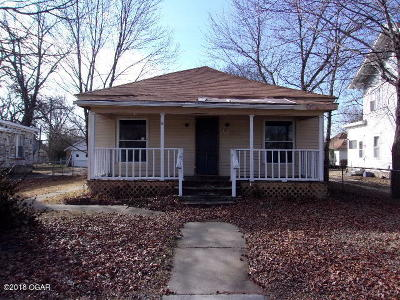 Webb City MO Single Family Home For Sale: $22,900