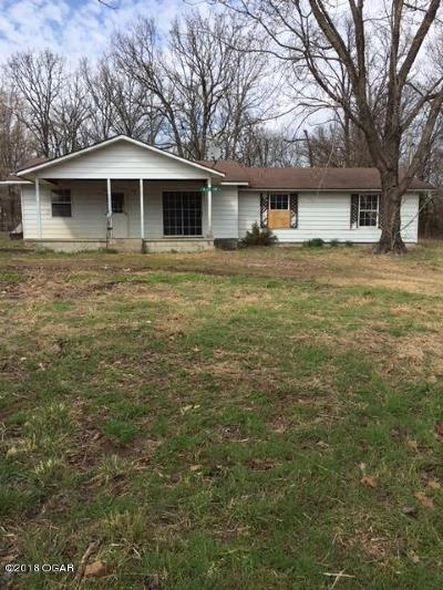 Seneca MO Single Family Home For Sale: $64,900
