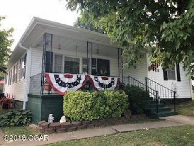 Carthage MO Single Family Home For Sale: $75,000