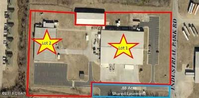 Barry County, Barton County, Dade County, Greene County, Jasper County, Lawrence County, McDonald County, Newton County, Stone County Commercial For Sale: 3220 Industrial Rd Lot 1 & 2