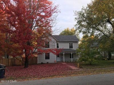 Webb City MO Single Family Home For Sale: $108,000