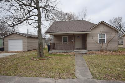 Webb City MO Single Family Home For Sale: $52,500