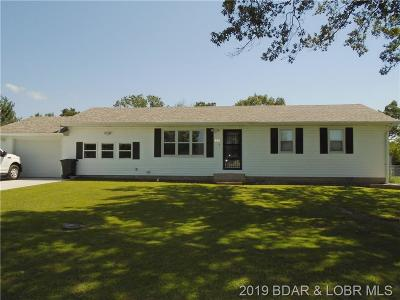 Stover MO Single Family Home For Sale: $97,500