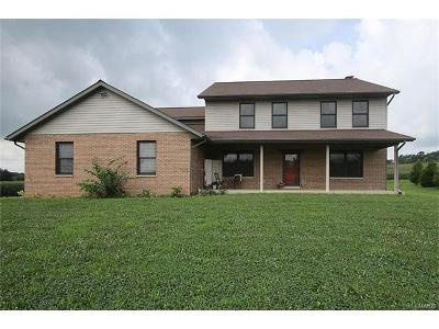 Mascoutah Single Family Home For Sale: 5715 Brickyard Road