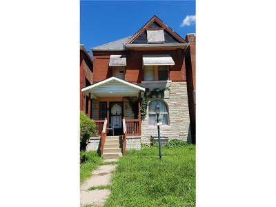 St Louis City County Single Family Home For Sale: 5211 Wells Avenue