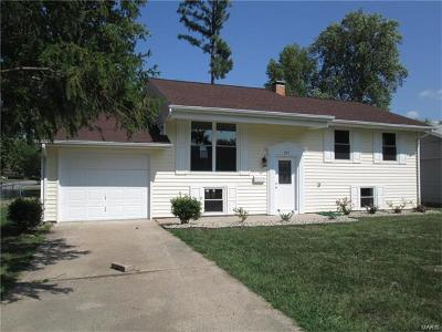 Mascoutah IL Single Family Home For Sale: $139,900