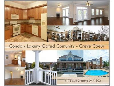 Creve Coeur Condo/Townhouse Contingent No Kickout: 1175 Mill Crossing Drive #302