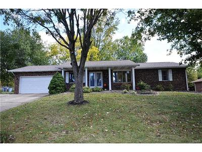 Edwardsville, Glen Carbon, Maryville, Troy, Collinsville, Caseyville, Fairview Heights, O'fallon, Belleview Single Family Home For Sale: 73 Crestview Drive